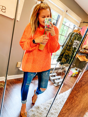 Coral Reef Popcorn Sweater