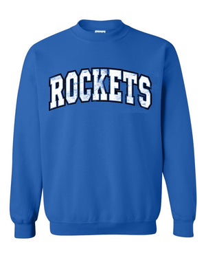Puff Letter School Spirit Sweatshirt