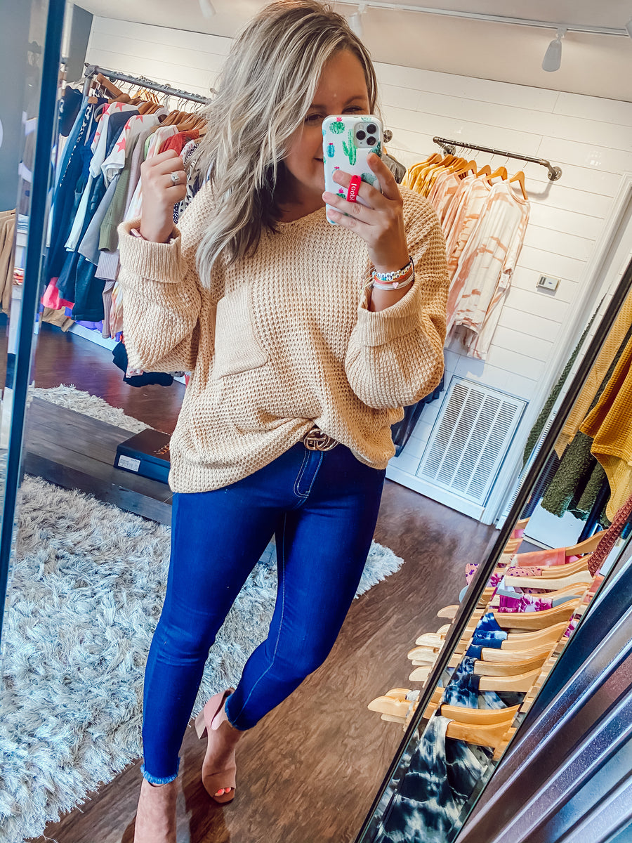 Just Peachy Dollman Knit Sweater