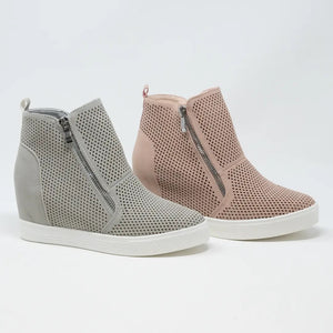 Ccocci Wedge Sneakers in Light Grey