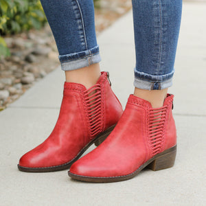 Corky's Joilet Bootie in Red ONLINE ONLY