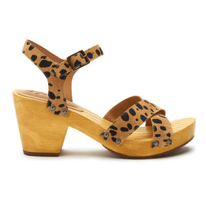Matisse Jump In Sandal in Natural Spot ONLINE ONLY
