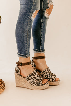 Not Rated Leif Wedge in Leopard