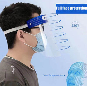 clear face shields for full face protection