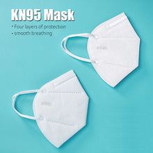 Load image into Gallery viewer, disposable Kn95 dust mask with filter for virus