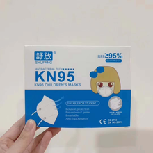 Load image into Gallery viewer, KN95 children's face masks breathable earloop design
