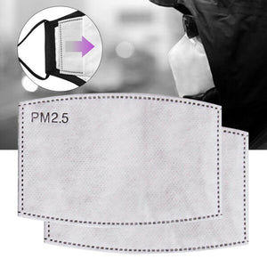 carbon filter pm2.5 for washable fabric face masks