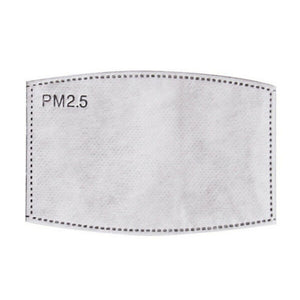 PM2.5 filter inserts for reusable washable face masks