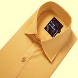 Cotton  Casual Single Shirt for Men - Amber
