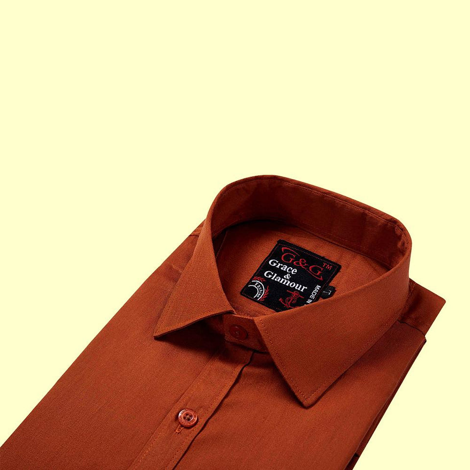 Cotton Full Sleeve Casual Single Shirt for Men-Maroon