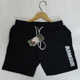 Black Men's Casual Shorts With Zipper