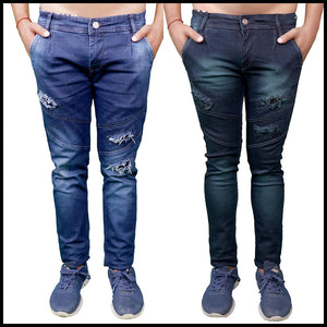 MEN STRETCHABLE JEANS:- PACK OF 2