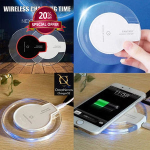 Wireless Charger 5W/7.5W/10W fast charging wireless charging pad (No AC Adapter)-Black
