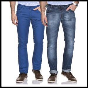MEN'S BLUE SLIM FIT DENIM JEANS (PACK OF 2)