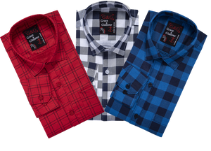 Grace & Glamour Cotton Shirt (Pack of 3)