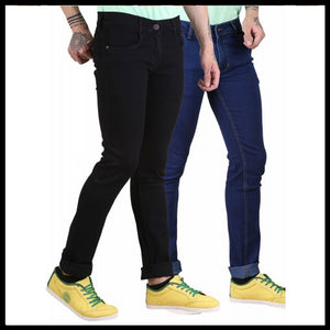 FASHION WEAR BLUE DENIM JEANS FOR MEN'S- PACK OF 2
