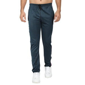Men Grey & Blue  Solid Slim-Fit Joggers (pack of 2)