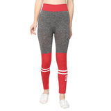 Women Black & Red  Designer Solid Skinny Fit Jeggings-Pack of 2