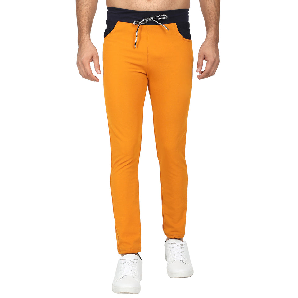 Men's Track Pants-Yellow