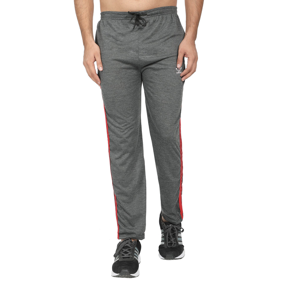 Men's Dark Grey , Grey & White Grey Track Pants -Pack of 3