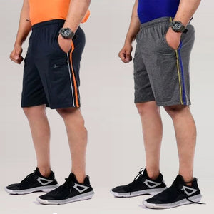 Dark Grey & Black Combo Short's (Pack of 2)