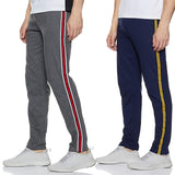 Men Designer Slim-Fit Track Pants-Pack of 2