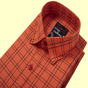 Full Sleeve Shirt for Men Combo-Red & Yellow Check (Pack of 2)