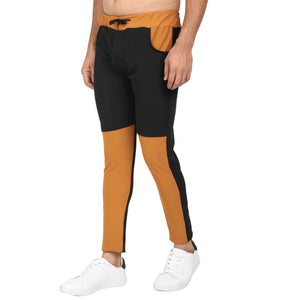 Men Orange Black Designer ,Navy Blue & Royel Solid Slim-Fit Joggers (pack of 3)