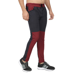 Men's Yellow, Yellow Black & Red Black  Track Pants -Pack of 3