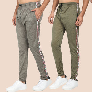 Brown and Grey Men's- Joggers- Pack of 2