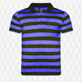 Pack Of 3 blue-Cyan-Yellow  Stripe  T-Shirts