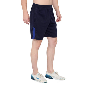Dark Blue & Cream Men's Casual Shorts-Pack of 2