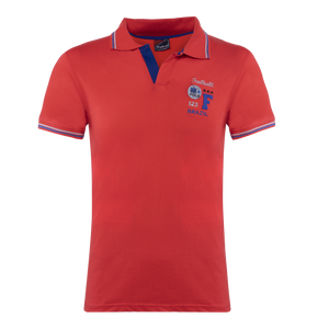 Polo Collar Half Sleeve T-Shirt Red-White-Blue for Men(Combo of 3)