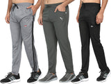 Men's Dark Grey , Grey & Black  Track Pants -Pack of 3