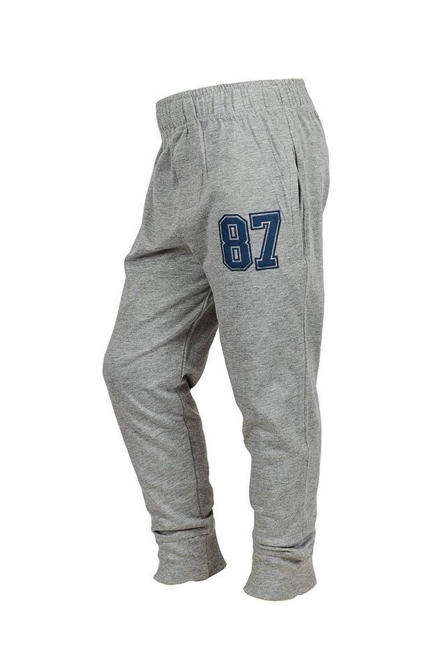 Combo of 2 Solid Men Blue & Grey Track Pants