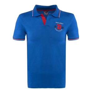 Combo of Red-Blue-Navy Blue Cotton Polo Collar Half Sleeve