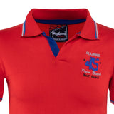 Combo of Red Black Cotton Polo Collar Half Sleeve