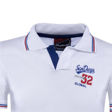 Combo of NavyBlue White Cotton Polo Collar Half Sleeve