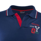 Combo of Navy Blue Grey Cotton Polo Collar Half Sleeve T-Shirt