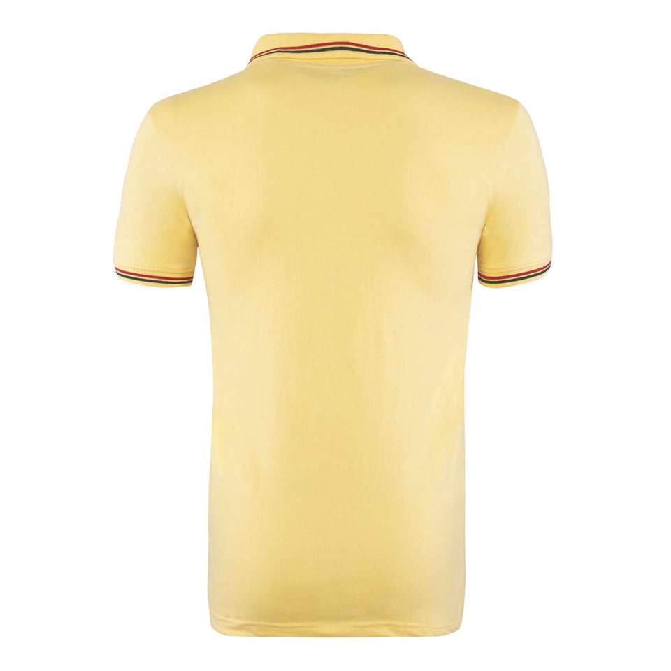 Cotton Polo Collar Half Sleeve T-Shirt - Yellow