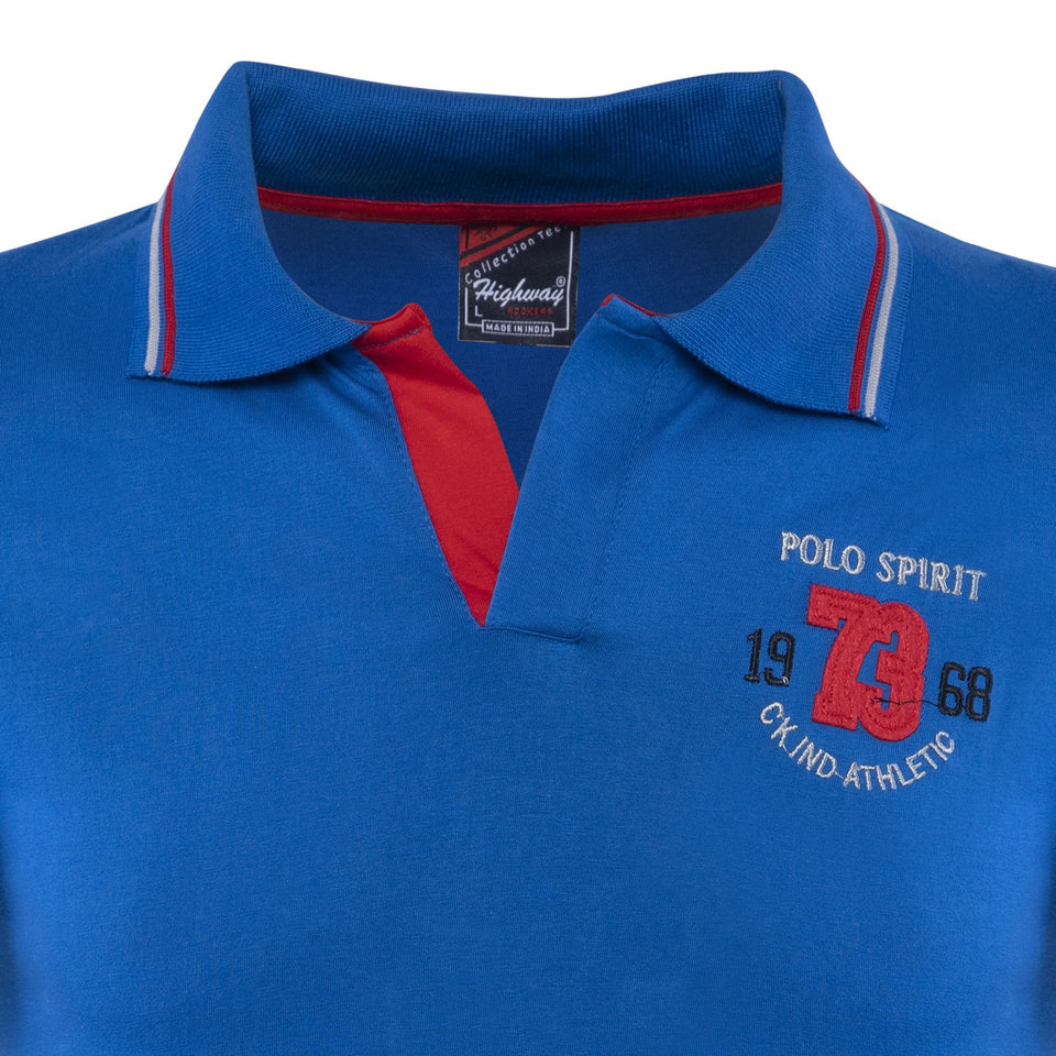 Combo of Black Blue Cotton Polo Collar Half Sleeve T-Shirts