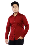 Cotton Full Sleeve Shirt for Men - Maroon