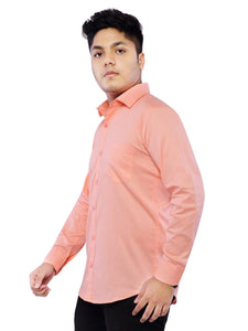 Combo of 2 Cotton Full Sleeve Shirts for Men Green-Pink