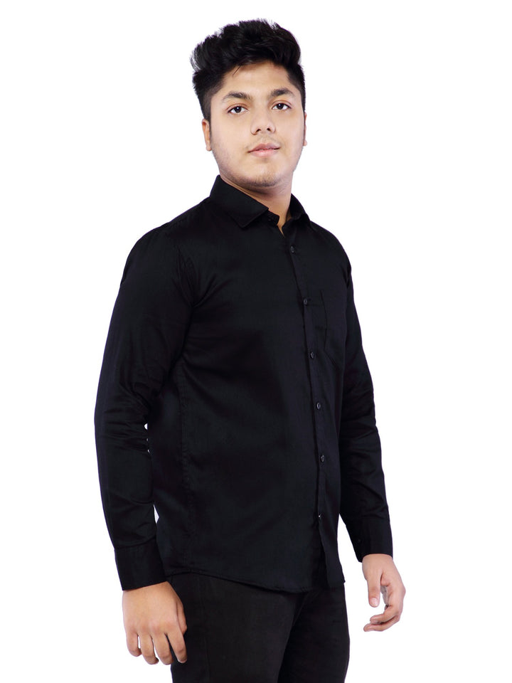 Combo of 2 Cotton Full Sleeve Shirts for Men Rust-Black