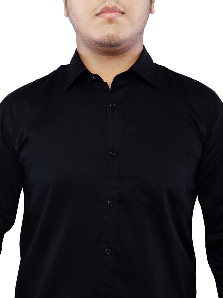 Cotton Full Sleeve Shirt for Men - Black
