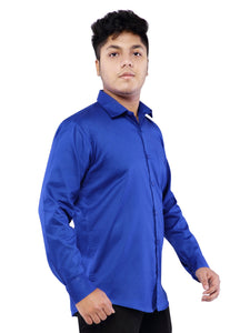 Cotton Full Sleeve Shirt for Men - Blue