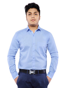 Combo of 2 Cotton Full Sleeve Shirts for Men - Rust-Sky Blue