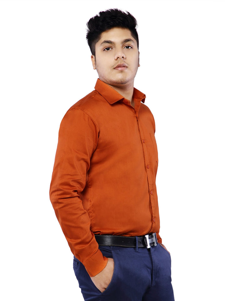 Combo of 2 Cotton Full Sleeve Shirts for Men Green-Rust