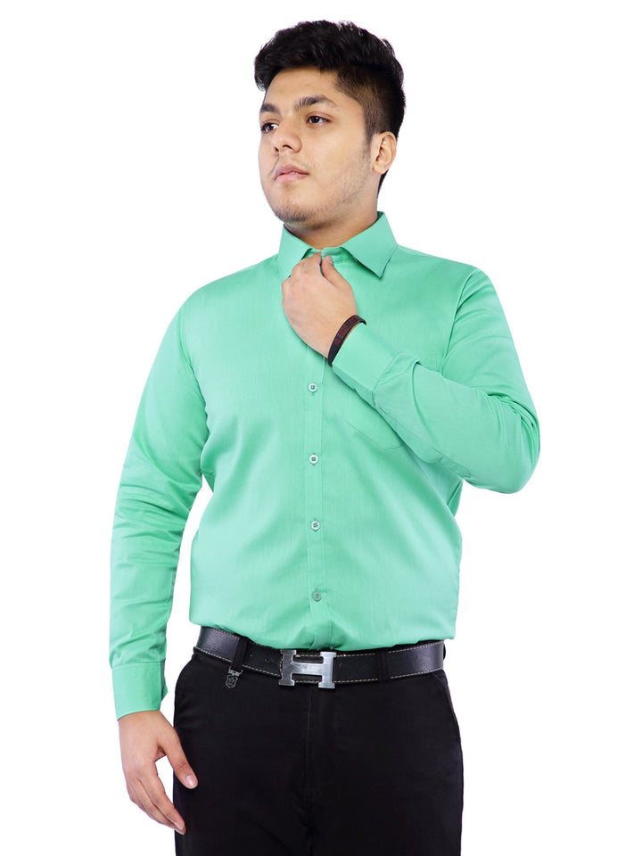 Combo of 2 Cotton Full Sleeve Shirts for Men Green-White
