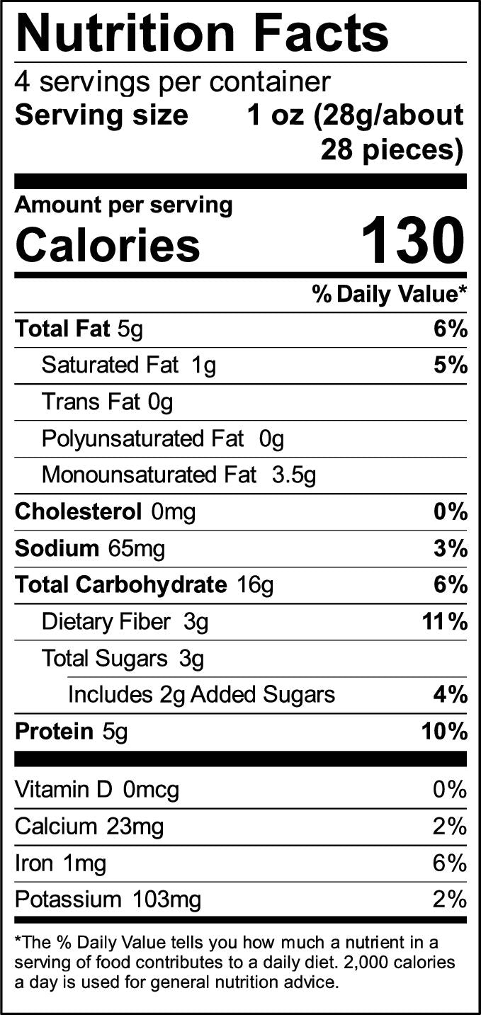 Nutritional Information Original Pnuff Crunch